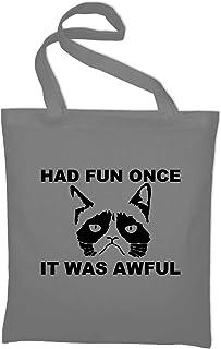 Styletex23 Had Fun Once It Was Awful Grumpy Cat Jutebeutel Baumwolltasche