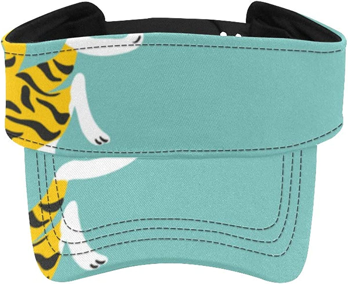 Beach Sun Visor Hat Ferocious New product! New type Bengal Tiger Running Sum Forest New mail order in
