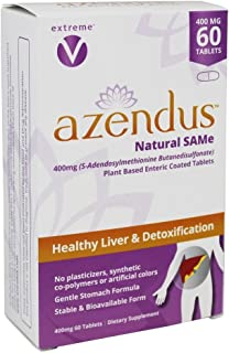 Azendus Natural SAM-e for Liver Health 60 Count, 400mg, 1 Recommended Form, Pure, Natural, Stable, Pharmace...