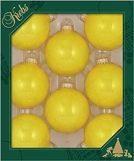 Christmas By Krebs Made in The USA Designer Seamless Glass Christmas Ball Ornaments, 2 5/8