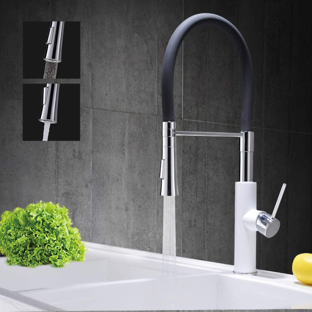 supreme CAIDAIYL Opening large release sale Chrome Brass Kitchen Sink Bla Pull Down Faucet Sprayer