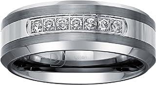 خاتم زفاف ألماس 1/5ct للرجال من كربيد التنجستن