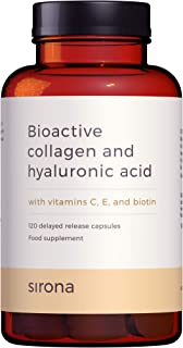 SIRONA Marine Collagen Pills (2 mths Supply) - with Hyaluronic Acid, Vitamin C, E and Biotin - Advanced Absorption w/Delay...