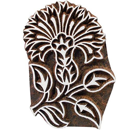 CraftyArt Handmade Flower Wooden Design Textile Printing Block Clay Potter Craft Henna Tattoo Scrapbook Stamps