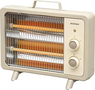 アイリスオーヤマ 電気ストーブ 速暖 転倒時電源OFF 400W/800W 2段階切替 遠赤外線タイプ コンパクト レトロ アイボリー EHT-800D-C