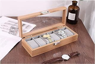 木製 腕時計収納 ボックス 6本用 コレクション ケース ディスプレイ ピアノラッカー手表盒 中