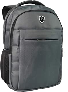 OUTON Laptop Backpack, Business Rucksack with USB Charging Port, Travel Casual Daypack, Water Resistant College School Computer Bag for Women Men Boy Girl, Fits 15.6 Inch Laptop and Notebook-Grey