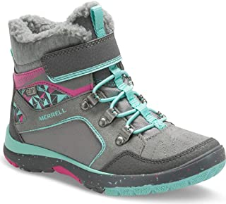 merrell kids moab fst mid waterproof hiking boots