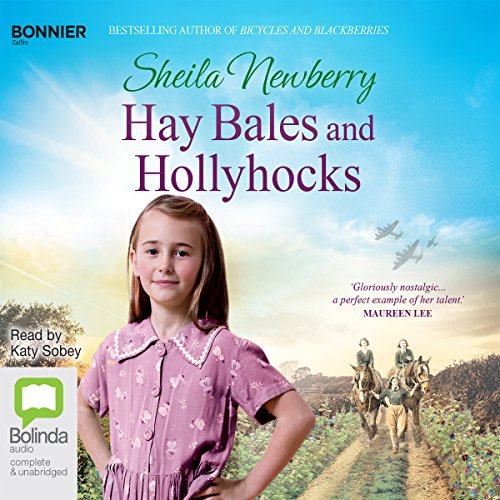 Hay Bales and Hollyhocks cover art