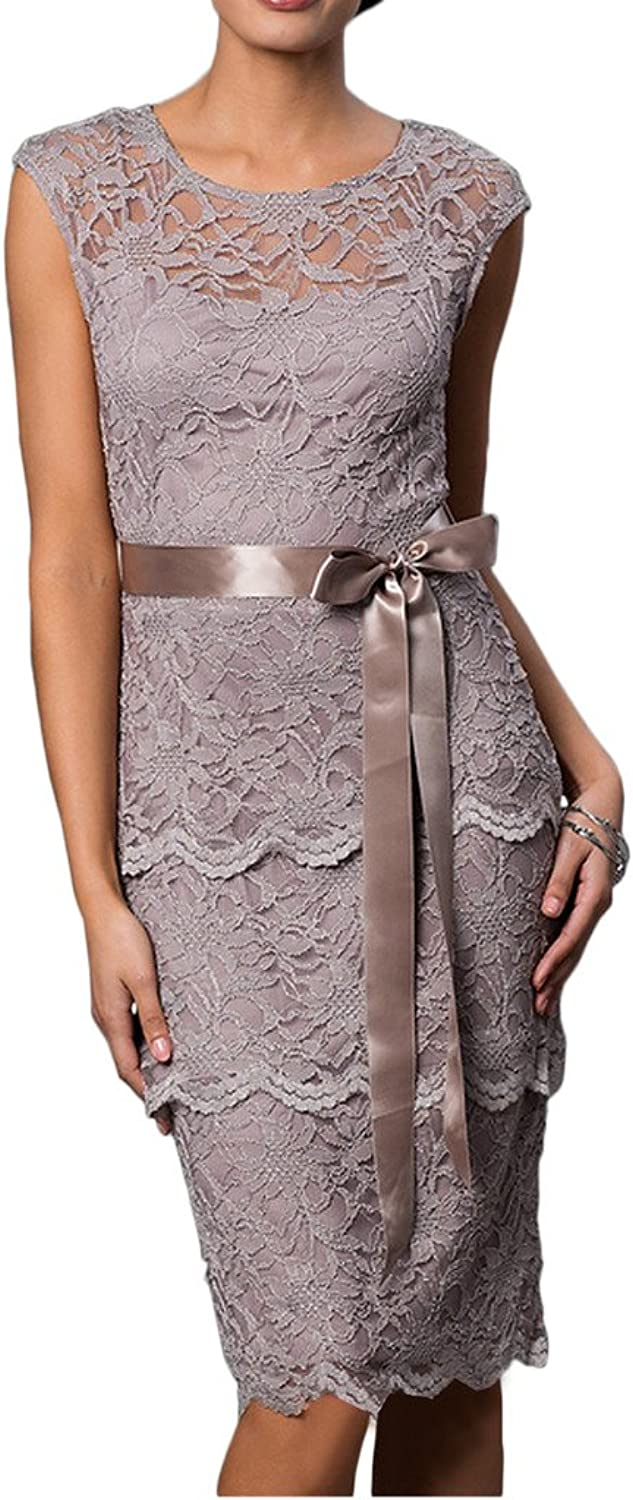 Avril Dress Elegant Mother of Bride Lace Sleeveless Wedding Guest Gown