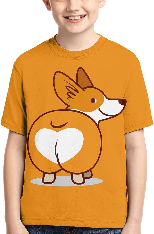 Corgi Heart Butts Boy Kid Tshirt Tee Shirt Cute Casual Clothes 3D Clothing