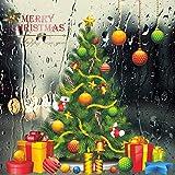 Weihnachten Aufkleber Fenster,Weihnachtsbaum Vinyl Wand Aufkleber Neujahr Glasfenster...