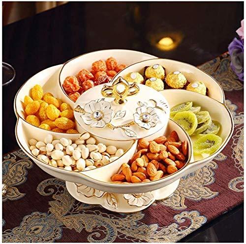 Wlh Keramischer Obstkorb, Nussfrucht-Trockenfruchtgestell, Keramischer Moderner Hauptwohnzimmer-Couchtischfruchtausstellungsstand