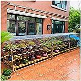 Lona Impermeable Transparente, Lona Pvc Transparente Con Ojales, Madera Jardín Mascota Protección Contra El Frío, Sin Empalmes, El Tamaño Se Puede Personalizar, 400 G / M²(Talla:1.8M×4M)