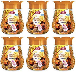 Set of 6 Pearl Beads Air Freshener! 10 Oz - 4 Great Relaxing Scents! Easy to Use! Perfect for Any Room in The House! (Hawaiian Bay Breeze, 6)