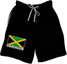 TooLoud Jamaica Flag Dark Adult Lounge Shorts