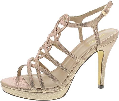 Menbur Riemchensandalette Zapato Sandalia Tira, Farbe  Rosa