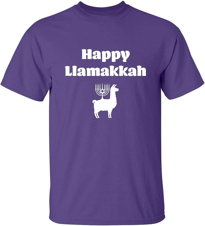 Happy Llamakkah Adult T-Shirt in Purple - XXXXX-Large