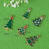 30 Stk. Mini Anhänger Weihnachten Deko für Weihnachtsgeschenke DIY Handwerk Bonboniere Hochzeit Geschenkbox Gastgeschenk usw. - 7