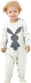 Baby Romper Knit Winter Warm Long Sleeve Jumpsuit for Boys One Piece Overall Infant Baby Clothes