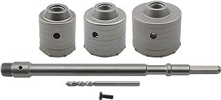 JIUWU Carbide Steel SDS Hole Saw Cutter Concrete SDS Plus Shank 60mm / 70mm / 80mm Drill Bit Set for Cement Brick Wall Sto...