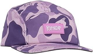 Ripndip Nerm Camo 5-Panel Camper Hat (Purple) Adjustable