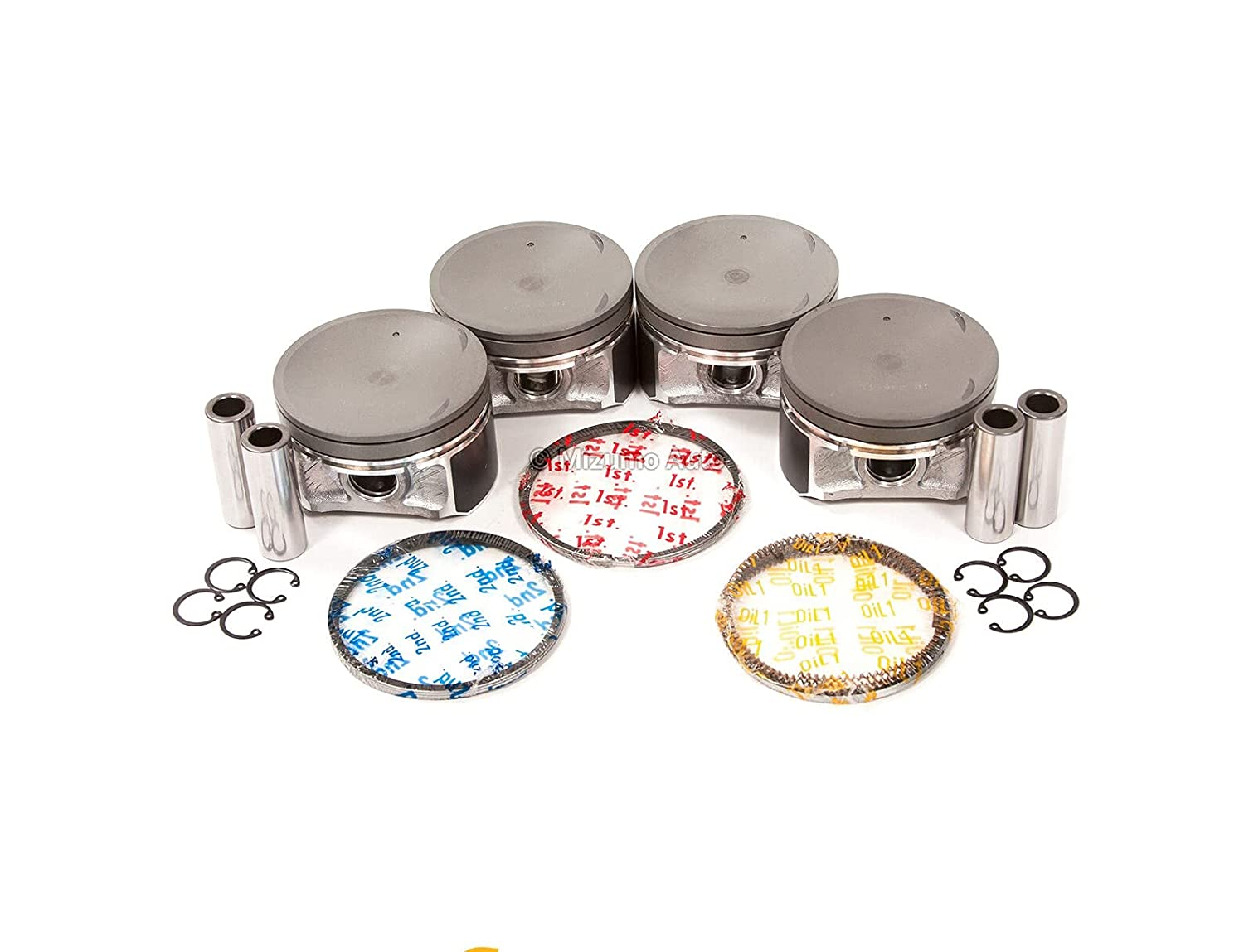 Time sale 1 Set of Pistons with Altima Rings Nissan Compatible lowest price 02-06