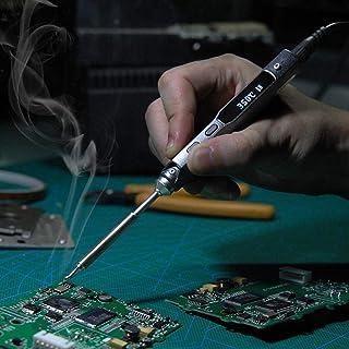 電気はんだごて、TS100はんだごてミニポータブルプログラマブルインテリジェントコントロールデジタル電気はんだごてPCB修理ツール溶接ツール(TS100-I)