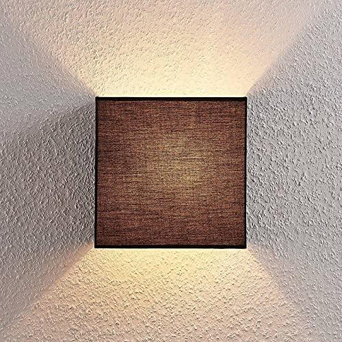 Applique 'Adea' dimmerabile (Moderno) colore Nero, in Tessuto ad es. Cucina (1 luce, E27, A++) di Lindby | applique in tessuto, applique