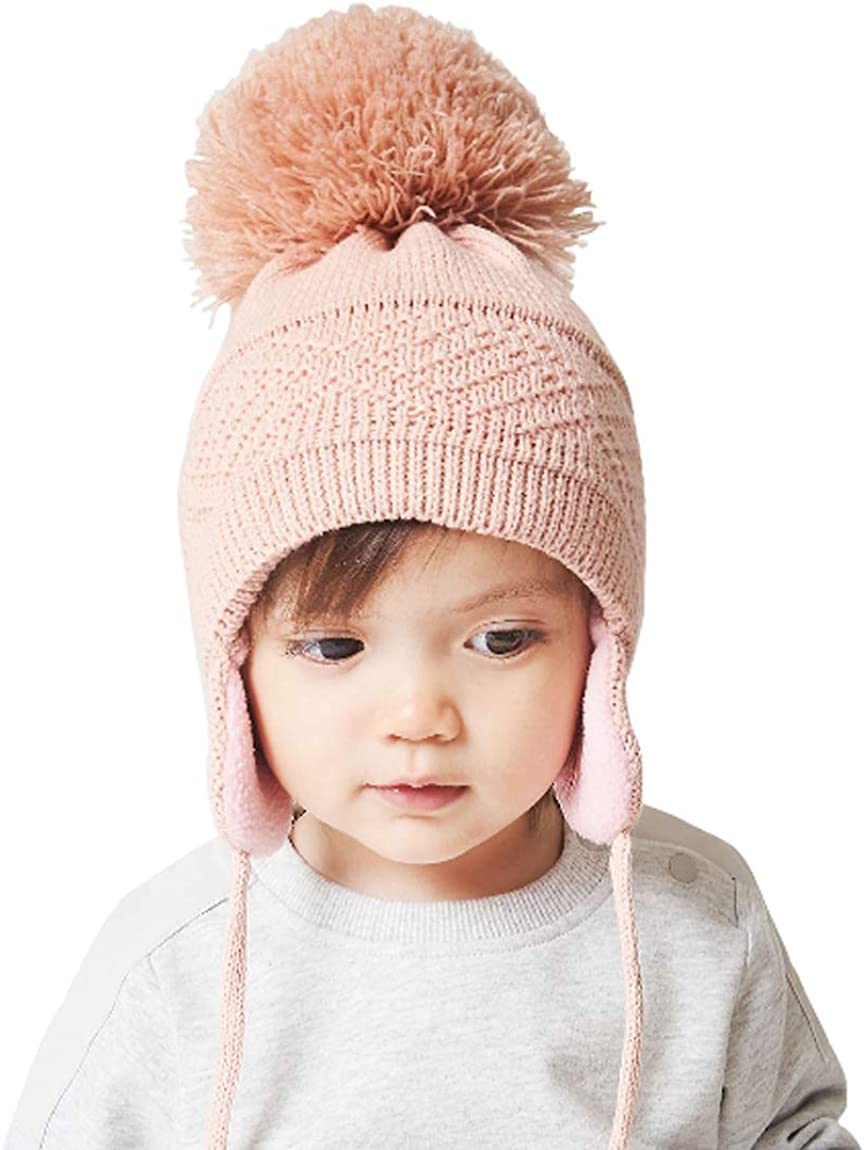 DINGDONG'S Fashionable CLOSET Baby Toddler Easy-to-use Boys Knit Lined Hat Fleece Girls