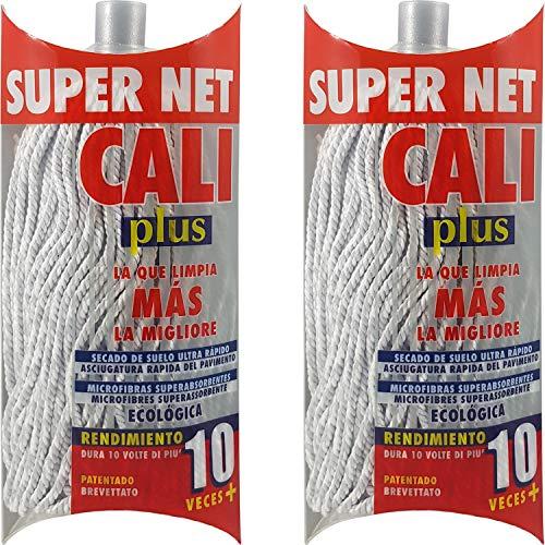 Super Net Cali Fregona de Microfibras Bicolor (Gris, 2)