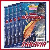 SAHAWA® Weiße Mückenlarven, Frostfutter, 10 Blister a 100g + 1 Blister Daphnien gratis, verpackt mit Trockeneis -78°C, Aquarium, Aquaristik, Fischfutter, Frostfutter
