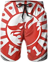 VF-1 'Wolfpack' Patch Mens 3D Print Quick Dry Swim Trunks Board Shorts