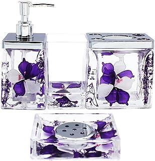 f110fc5b03df0 Amazon.com: Purple - Bathroom Accessory Sets / Bathroom Accessories ...