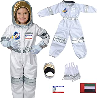 Yalla Baby Kids Astronaut Costume for Kid Boys and Girls, Pretend Dress up Role Play 5pcs Set (3-8 Years, 80-110cm)