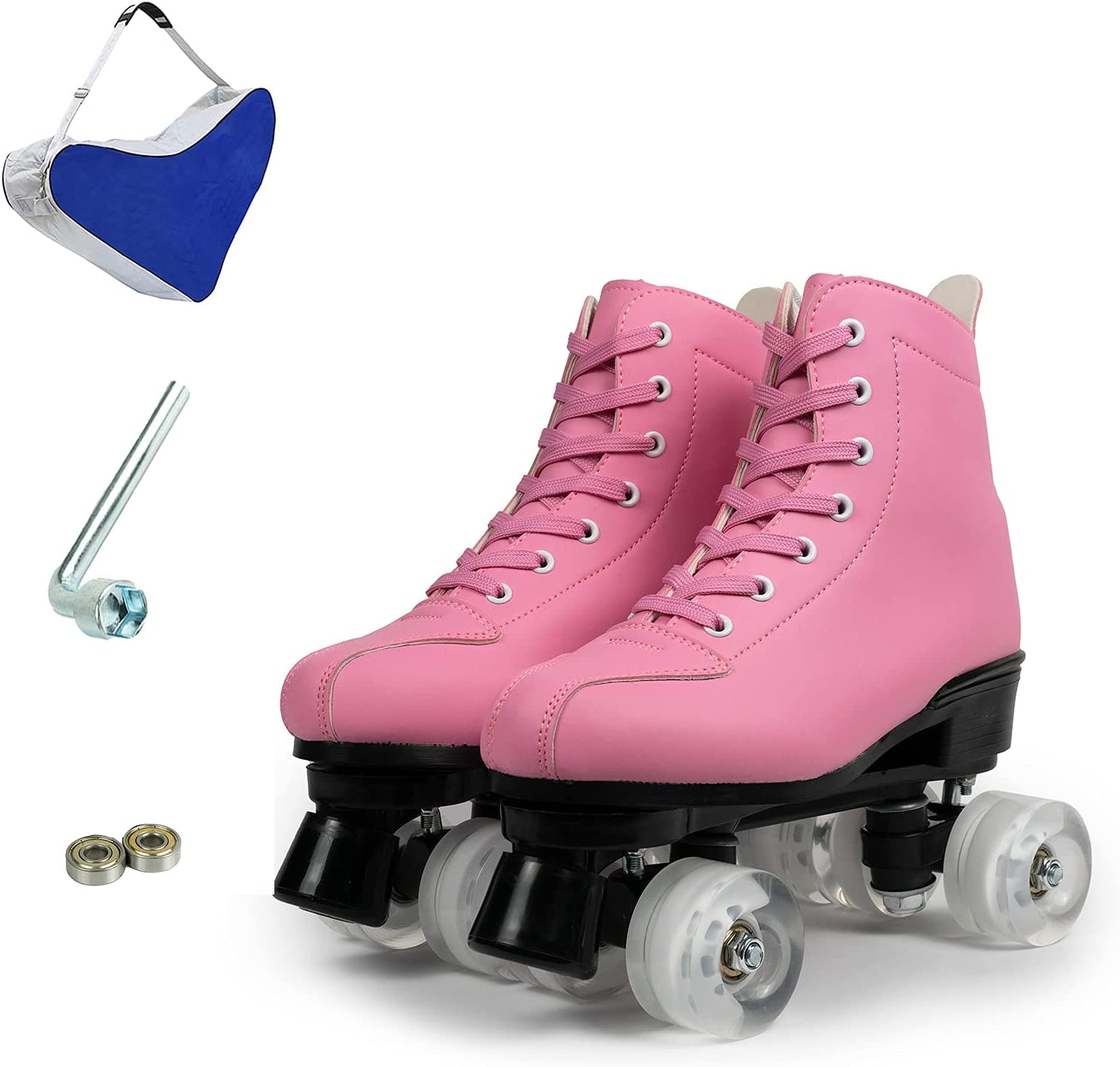 ZZAINIO Cheap bargain Women's Classic Roller Skates low-pricing PU High-to Leather Premium
