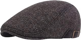 iNoDoZ Mens Flat Cap Baker Hat Boy Hat Cap Newsboy Herringbone Berets