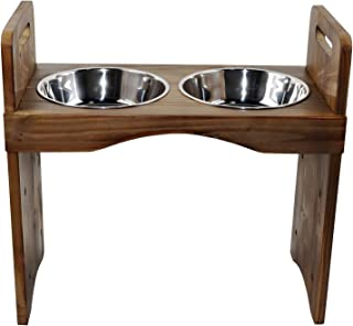 """Spirtro Elevated Dog Bowls Station- Adjustable to 3 Heights, 3"""", 8"""", 12"""", Raised Pet Stand Feeder, Double Stainless Steel ..."""