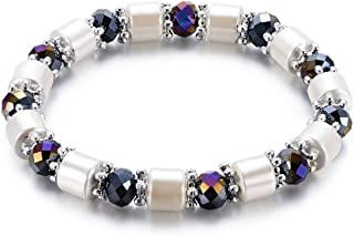ForHe Magnetic Bracelet Beads Hematite Stone Therapy Health Care Magnet Hematite Beads (319#)