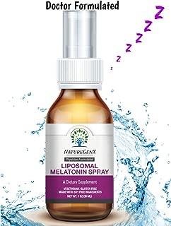 NatureGenx- Liposomal Natural Melatonin 3mg Spray 1oz - Sublingual Liquid Sleep Aid, Insomnia Relief and Sleep Problems, Support Good Restful Sleep, Mood, Immune and Antioxidant - Physician Formulated