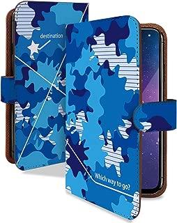 Google Pixel 3a XL ケース 手帳型 迷彩柄 青 かっこいい 格好いい スマホケース グーグルピクセル3A 手帳 カバー GooglePixe 3axl 3axlケース 3axlカバー 迷彩柄 カモフラ 迷彩模様 [迷彩柄 青/t0743d]