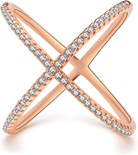 two tone criss cross ring