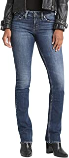 Silver Jeans Co. Women's Suki Curvy Fit Mid Rise Slim...
