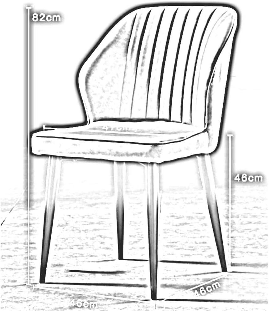 DALL Chaise De Salle À Manger Moderne Chaise De Table Dossier Pieds en Métal Noir Coussin PU Chaises De Café De Loisirs Assemblée (Color : T5) T5