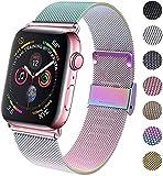 INZAKI Kompatibel fr Apple Watch Armband mit 38mm 40mm 42mm 44mm, Edelstahl Ersatzarmbnder mit...