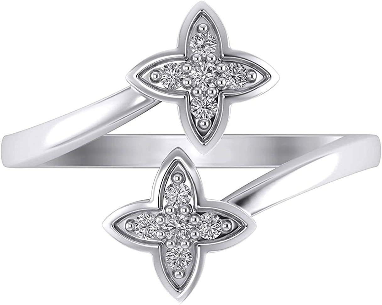 925 Sterling Silver Round Cut Large special price Cubic White Gold Seasonal Wrap Introduction 14k Zirconia Plat