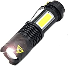 ASdf 3800LM LED Flashlight Portable Mini Zoom Torch Flashlight Use AA 14500 Battery Waterproof in Life Flashlight