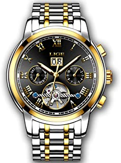 Mens Watches Fashion Casual Business Dress Watch Multi Functional Automatic Mechanical Watch Luxury Brand LIGE Mens Waterproof 30M Watches