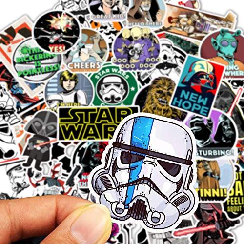 50 pegatinas de anime Star Wars Graffiti Coche eléctrico Notas Básicas Computadora Scooter Motor Balance Coche Casco Pegatina