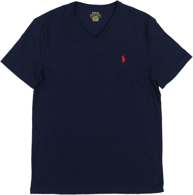 Polo Ralph Lauren Mens Custom Slim Fit V-Neck T-Shirt